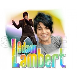 Adam Lambert T Shirt Iron on Transfer Decal #2