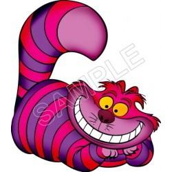 Alice in Wonderland Cheshire Cat T Shirt Iron on Transfer Decal #4
