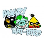 Angry Birds Batman T Shirt Iron on Transfer Decal #71 by www.shopironons.com