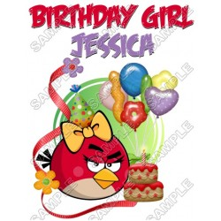 Angry Birds Birthday Personalized Custom T Shirt Iron on Transfer Decal #12