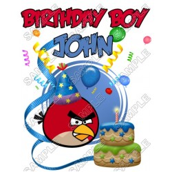 Angry Birds Birthday Personalized Custom T Shirt Iron on Transfer Decal #13