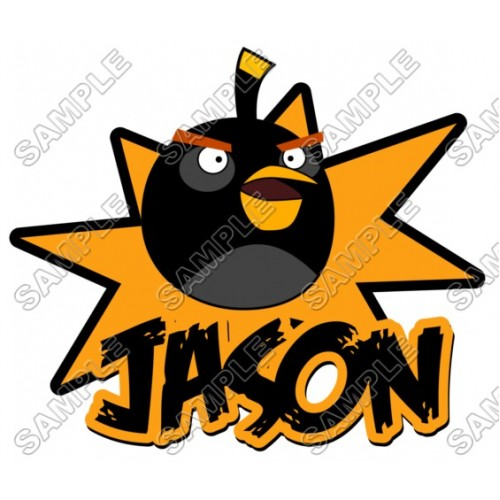 Angry Birds Birthday Personalized Custom T Shirt Iron on Transfer Decal #14 by www.shopironons.com