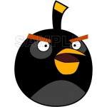 Angry Birds Black Bird T Shirt Iron on Transfer Decal #5 by www.shopironons.com