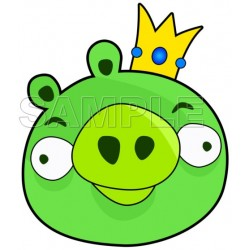 Angry Birds King Pig T Shirt Iron on Transfer Decal #10