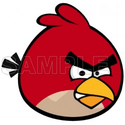 Angry Birds Red Bird T Shirt Iron on Transfer Decal #7