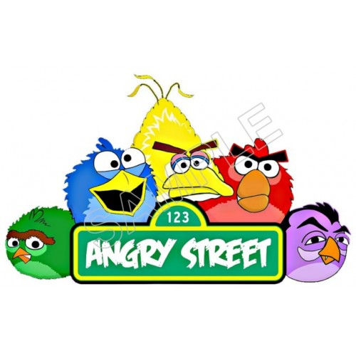 Angry Birds Sesame Street T Shirt Iron on Transfer Decal #70 by www.shopironons.com