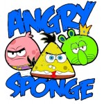 Angry Birds SpongeBob T Shirt Iron on Transfer Decal #68 by www.shopironons.com