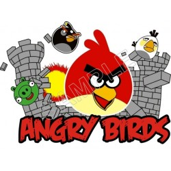 Angry Birds T Shirt Iron on Transfer Decal #77