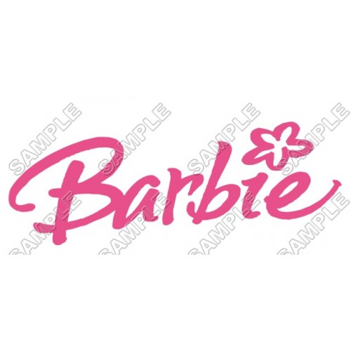 Barbie Logo T Shirt Iron on Transfer Decal #3 by www.shopironons.com