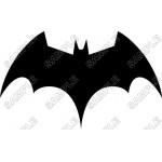 Batman Logo Black T Shirt Iron on Transfer Decal #15 by www.shopironons.com
