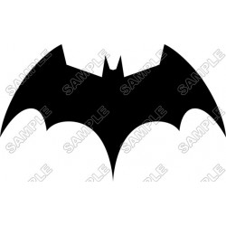 Batman Logo Black T Shirt Iron on Transfer Decal #15