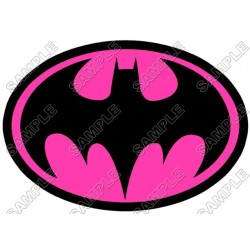 Batman Logo Pink T Shirt Iron on Transfer Decal #14