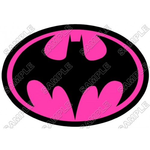 Batman Logo Pink T Shirt Iron on Transfer Decal #14 by www.shopironons.com