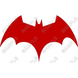 Batman Logo Red T Shirt Iron on Transfer Decal #16
