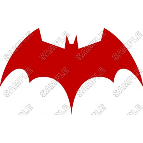 Batman Logo Red T Shirt Iron on Transfer Decal #16 by www.shopironons.com