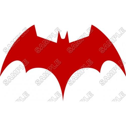 Batman Logo Red T Shirt Iron on Transfer Decal #16 by www.shopironons.com
