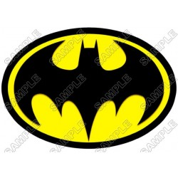 Batman Logo Yellow T Shirt Iron on Transfer Decal #12