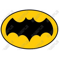 Batman Logo Yellow T Shirt Iron on Transfer Decal #13