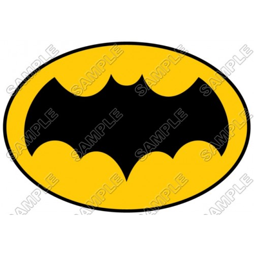 Batman Logo Yellow T Shirt Iron on Transfer Decal #13 by www.shopironons.com