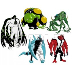 Ben 10 Aliens T Shirt Iron on Transfer Decal #1