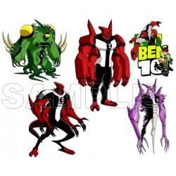 Ben 10 Aliens T Shirt Iron on Transfer Decal #2