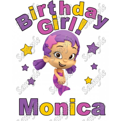 Birthday Girl Bubble Guppies Oona Personalized Custom T Shirt Iron on Transfer Decal #23 by www.shopironons.com