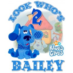 Blues Clues Birthday Personalized Custom T Shirt Iron on Transfer Decal #2