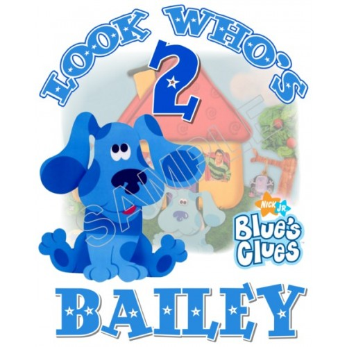 Blues Clues Birthday Personalized Custom T Shirt Iron on Transfer Decal #2 by www.shopironons.com