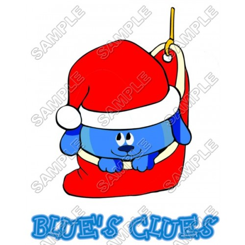 Blues Clues Christmas T Shirt Iron on Transfer Decal #61 by www.shopironons.com