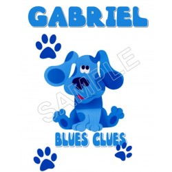 Blues Clues Personalized Custom T Shirt Iron on Transfer Decal #52
