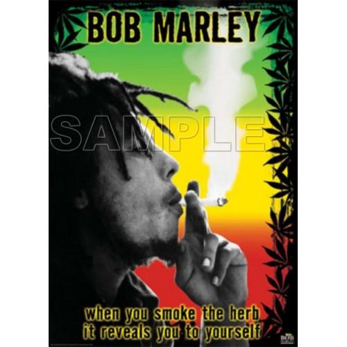 Bob Marley T Shirt Iron on Transfer Decal #1 by www.shopironons.com