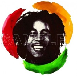 Bob Marley T Shirt Iron on Transfer Decal #3