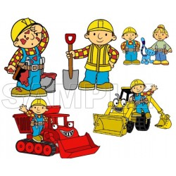 Bob the Builder T Shirt Iron on Transfer Decal #1