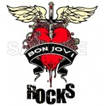 Bon Jovi T Shirt Iron on Transfer Decal #1 by www.shopironons.com