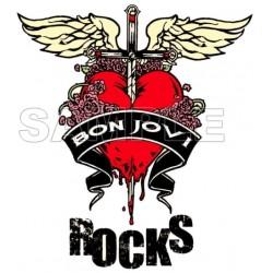 Bon Jovi T Shirt Iron on Transfer Decal #1