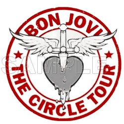 Bon Jovi T Shirt Iron on Transfer Decal #2