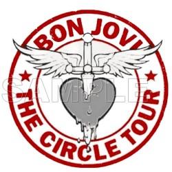 Bon Jovi T Shirt Iron on Transfer Decal #2