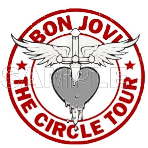 Bon Jovi T Shirt Iron on Transfer Decal #2 by www.shopironons.com