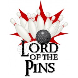 Bowling Lord of the Pins T Shirt Iron on Transfer Decal #7