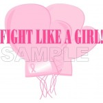Breast Cancer Awareness ~ Fight Like A Girl ~ T Shirt Iron on Transfer Decal #19 by www.shopironons.com