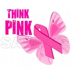 Breast Cancer Awareness T Shirt Iron on Transfer Decal #2