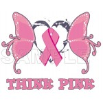 Breast Cancer Awareness ~ Think Pink ~ T Shirt Iron on Transfer Decal #20 by www.shopironons.com