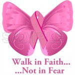 Breast Cancer Awareness ~ Walk in Faith ... ~ T Shirt Iron on Transfer Decal #17 by www.shopironons.com