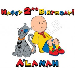 Caillou Birthday Personalized Custom T Shirt Iron on Transfer Decal #48