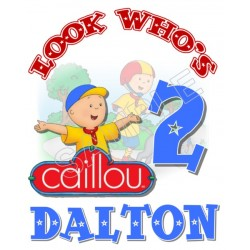 Caillou Birthday Personalized Custom T Shirt Iron on Transfer Decal #81
