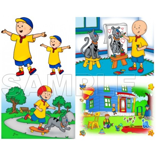 Caillou T Shirt Iron on Transfer Decal #1 by www.shopironons.com