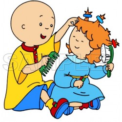 Caillou T Shirt Iron on Transfer Decal #11