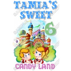 Candy Land Birthday Personalized Custom T Shirt Iron on Transfer Decal #9