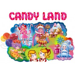 Candy Land T Shirt Iron on Transfer Decal #1