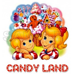 Candy Land T Shirt Iron on Transfer Decal #2